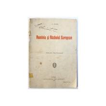 ROMINIA SI RAZBOIUL EUROPEAN de C. STERE , 1915