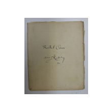 ROSTUL CASEI - MANUSCRIS de DIACON N. RADULESCU , 1906