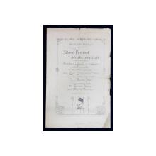 SALA EPARHIALA DIN CHISINAU , PROGRAM AL FESTIVALULUI ARTISTIC  - MUZICAL , DATAT 1918