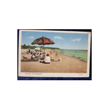 Salutari din Mangalia, Plaja - CP Ilustrata