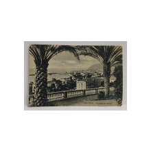 SAN REMO , PANORAMA  DA LEVANTE , CARTE POSTALA ILUSTRATA, EXPEDIATA CATRE PETRE I. STURDZA , CIRCULATA , DATATA 1913