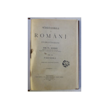 SARBATORILE LA ROMANI - STUDIU ETNOGRAFIC VOL. II , PARESIMILE de SIM. FL. MARIAN , 1899