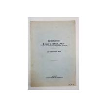 Sarbatorirea D-rului C. BACALOGLU (29 FEBRUARIE 1936) - BUCURESTI *DEDICATIE