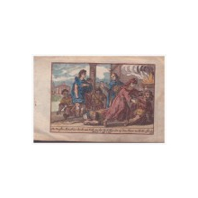 Scena alegorica religioasa, Gravura colorata