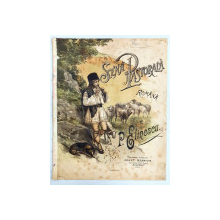 SCENA PASTORALA ROMANA de P. ELINECU - PARTITURA CROMOLITOGRAFIE, cca. 1900