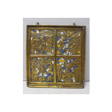 Scene din viata Mantuitorului, Icoana din bronz cu email, Rusia sec. XIX