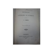 SCRIEREI LITERARE SI ISTORICE - A.I. ODOBESCU   VOL.II  BUC. 1887