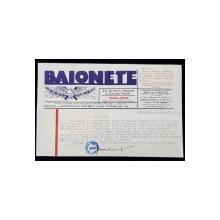 SCRISOARE ADRESATA PRINTESEI BIBESCU , EXPEDIATA DE DIRECTORUL ZIARULUI ' BAIONETE '  , DATATA 14 MARTIE 1941