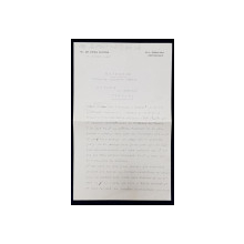 SCRISOARE ADRESATA PRINTESEI BIBESCU , EXPEDIATA SI SEMNATA OLOGRAF de  M . DE VRIES FEYENS , AMSTERDAM ,  DATATA 6 OCTOMBRIE 1937
