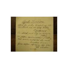 Scrisoare Agathe Barsescu, adresata lui Heinrich Glucksmann