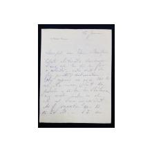 Scrisoare, Alexandru Marghiloman catre Costin D. Nenitescu