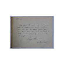 SCRISOARE DE CONDOLEANTE , SEMNATA DE EUGEN HEROVANU , DATATA 27 DECEMBRIE , 1945