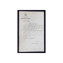 SCRISOARE DE NUMIRE IN POSTUL DE PREFECT AL JUDETULUI MUSCEL , ADRESATA DE MINISTRUL DE INTERNE  DOMNULUI D. FILITTI , DATATA 1895