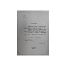 SCRISOARE EMISA DE MITROPOLIA BANATULUI SI SEMNATA OLOGRAF  DE NICOLAE , MITROPOLITUL BANATULUI , 1974