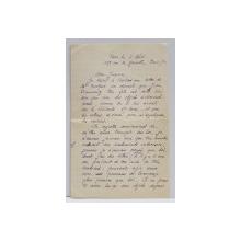 SCRISOARE EXPEDIATA DE M. G. SUTZU , SCRISA SI SEMNATA OLOGRAF , IN LIMBA FRANCEZA , INCEPUTUL SEC. XX