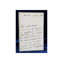 SCRISOARE OLOGRAFA A PRINTESEI MARTHA BIBESCU , SCRISA , SEMNATA SI DATATA 19 MAI 1919