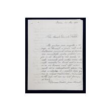 SCRISOARE OLOGRAFA ADRESATA DOMNULUI FILITTI , SEMNATA DE ION T. CIULLI , DATATA 24 MAI 1914
