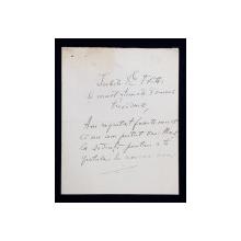 SCRISOARE OLOGRAFA ADRESATA DOMNULUI FILITTI , SEMNATA DE ISTORICUL VIRGIL DRAGHICEANU , DATATA 1931