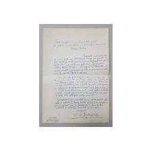 SCRISOARE OLOGRAFA CATRE STEFAN VOITEC , TRIMISA DE CRITICUL V.C. PALEOLOG 1891 - 1979 , 1968