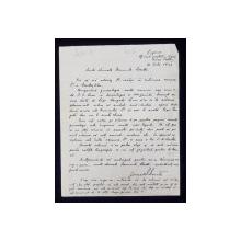 SCRISOARE OLOGRAFA , SCRISA SI SEMNATA DE GENERALUL RADU R. ROSETTI , EXPEDIATA CATRE RADU D. ROSETTI , CUPRINZAND ARBORELE GENEALOGIC AL FAMILIEI ROSETTI , DATATA 1933