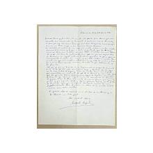 Scrisoare trimisa de Miguel Angel catre generalul roman Mihai Burca