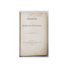 SCRISORI ALE LUI ION GHICA  CATRE V. ALECSANDRI , 1884 , EDITIA I * , EXEMPLAR SEMNAT DE G.N. MAVROCORDAT *