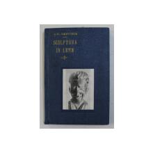 SCULPTURA IN LEMN-IOAN H.SARGHIE,BUC.1943,DEDICATIA AUTORULUI