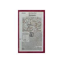 SEBASTIAN MUNSTER, TRANSILVANIA, SARMATIA, 1550