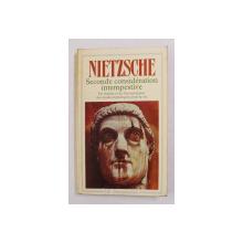 SECONDE CONSIDERATION INTEMPESTIVE par FRIEDRICH NIETZSCHE , 1988