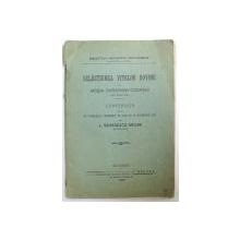 SELECTIUNEA VITELOR BOVINE PE MOSIA DARABANII - CODRENI, JUDETUL DOROHOIU de L. GEORGESCU - GRUIAN  1908