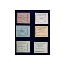SET DE 9 BILETE DE INTRARE LA SERBAREA ELEVILOR LICEULUI MIHAI VITEAZUL DE LA TEATRUL NATIONAL , MARTIE , 1914
