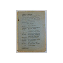 SEZATOAREA - REVISTA DE FOLKLOR , ANUL XXX , NO. 3 - 4 , VOLUMUL XVIII , MARTIE - APRILIE ,  1922