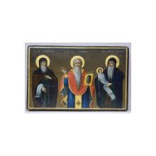 Sf. Cuvios Antonie cel Mare, Sf. M. M. Haralambie si Sf. Cuvios Stilian - Icoana Romaneasca, 1847