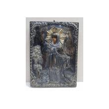 Sf. Mucenita si Cuvioasa Eufrosina - Icoana Romaneasca cu ferecatura din argint