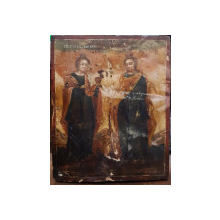 Sf. Mucenita Varvara si Sf. Mucenita Ecaterina, Icoana Romaneasca Secol 19