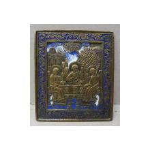 Sfanta treime, Icoana din bronz si email policrom, cca. 1900