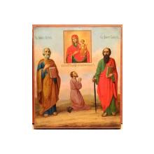 """SFINTII APOSTOLI PETRU SI PAVEL, MAICA DOMNULUI """"BUCURIA NEASTEPTATA"""" , SEC. XIX"""
