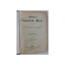 SHAKESPEARE 'S SAMMTLICHE WERKE , illustriert von JOHN GILBERT , VIERTER BAND , EDITIE DE SFARSIT DE SECOL XIX