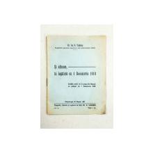 Si altceva, in legatura cu 1 Decembrie 1918 de Dr. Ion D. Ticaloiu - Campulung Muscel, 1937
