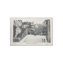 Sibiu. Pasajul cu Scari si Podul Mincinosilor - CP Ilustrata