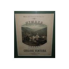 SINAIA, Hora pentru pian de Grigore Ventura dedicata reginei Elisabeta  - Cromolitografie