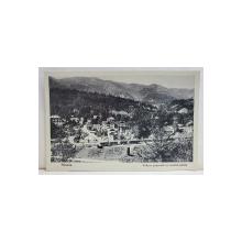 SINAIA , VEDERE GENERALA CU CENTRUL PIETII , CARTE POSTALA ILUSTRATA , 1933