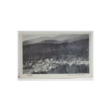 SINAIA , VEDERE GENERALA DIN CENTRU , CARTE POSTALA ILUSTRATA , 1933