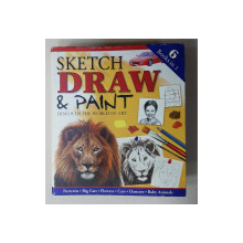 SKETCH DRAW and PAINT - DISCOVER THE WORLD OF ART , 6 BOOKS IN 1 by  JEAN - PIERRE LAMERLAND , 2009
