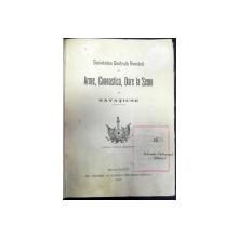SOCIETATEA CENTRALA ROMANA  DE ARME GIMNASTICA DARE LA SEMN SI NATATIUNE . BUC.1906