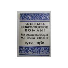 SOCIETATEA COMPOZITORILOR ROMANI 1920-1930