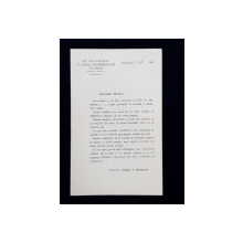 SOCIETATEA HIPICA ROMANA . CLUBUL CALARETILOR BUCURESTI , SCRISOARE CU PROGRAMUL VANATORILOR CALARI  DIN TOAMNA  ANULUI 1915