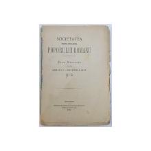 SOCIETATEA  PENTRU INVETIATURA  POPORULUI ROMANU  - FOAIE MENSUALE  - ANNULU I. - No. 9 , DECEMBRIE , 1870