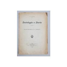 SOCIOLOGIA E STORIA di A.D. XENOPOL , 1906