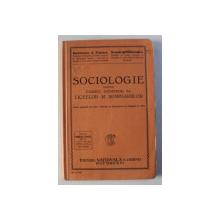 SOCIOLOGIE PENTRU CURSUL SUPERIOR AL LICEELOR SI SEMINARIILOR de BARTOLOMEU A. POPESCU si DEMETRU MARACINEANU , 1931 , DEDICATIE*